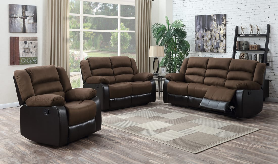 Walter 3 Pc Reclining Sofa Loveseat And Recliner Good
