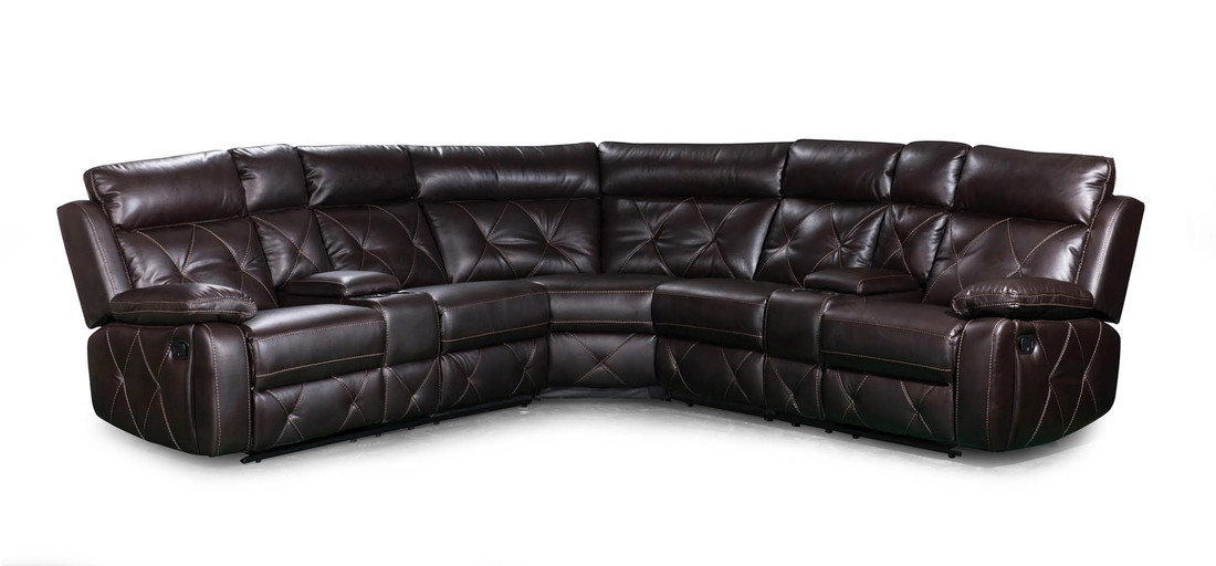 Mckenzie Reclining Leather Sectional Good Find Furniture