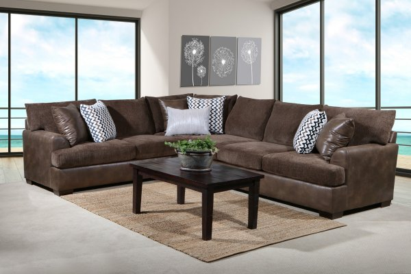 Winston Brown Sectional Good Find Furniture